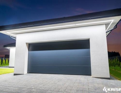 Brama garażowa segmentowa na wąską działkę